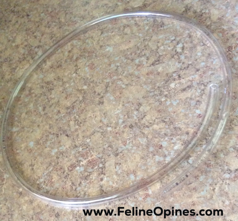 clear plastic tubing to protect cords from cats chewing