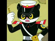 cartoon police cat