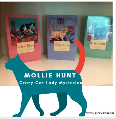photos of Mollie Hunt crazy cat mystery books
