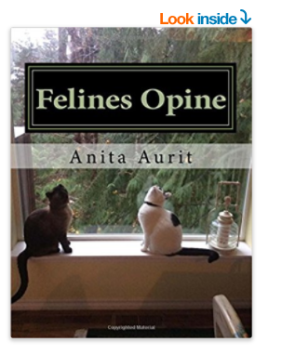 felines opine book Anita Aurit siamese cat and black and white cat