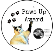 Paws Up award by FelineOpines.net for humans who do amazing things for cats