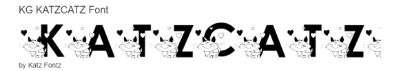 katzcatz font