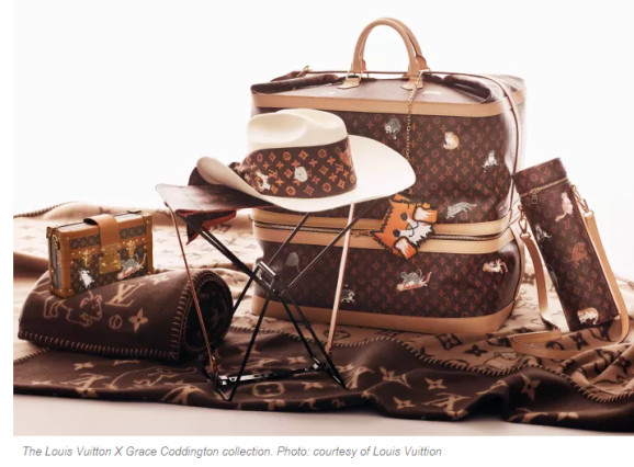 Louis Vitton cat themed luggage and products