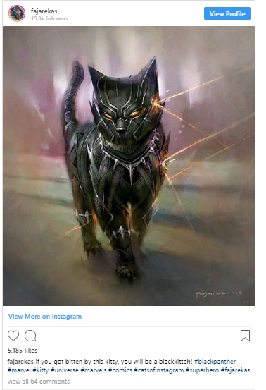 Marvel Comic hero gets feline makeover